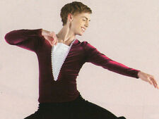 NWT Velvet Wine w/ Silver Long Sleeve Ballet pullover Dance Mens Stretch Tunic