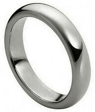 4mm Tungsten Carbide Men Women Wedding Band Ring Polished Shiny Domed New