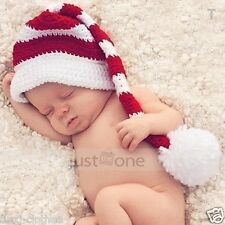 Infant Newborn Baby Crochet Knitted Girl Boy Long tail Beanie Hat Cap Photo prop
