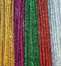 "12"" / 30cm Tinsel Craft Stems Pipe Cleaners - Choice of Colours and Pack Size"