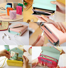 New Multi Envelope Purpose Wallet Bag Case for Iphone 4S 5 Samsung Galaxy S2 S3