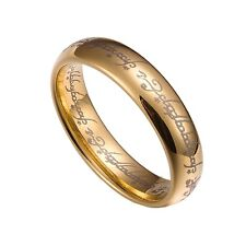 Gold Tungsten Carbide 6mm Lord Of The Rings Band Plain Size 5-13 TG033