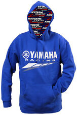 YAMAHA RACING HOODIE HOODED SWEATSHIRT SWEAT SHIRT TEAM BLUE MENS SIZE SM-XXL