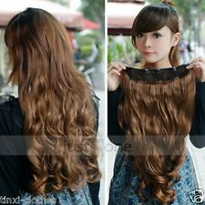 60cm One Piece Long Curl Curly Wavy Clip-on Women's Hair Extensions Decoration