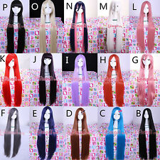18 Colors 100cm Long Straight Party Hair Japanese Anime Cosplay Wigs+Wig Cap