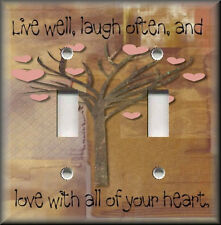 Light Switch Plate Cover - Live Well Laugh Often And Love With All Of Your Heart