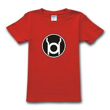 The Big Bang Theory Sheldon Cooper Red Lantern Corps Unisex Mens Tshirt XS-XXL