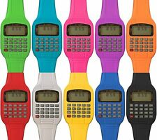 New Retro Calculator Watch Geek Chic Vintage 80s Neon Rave Party Digital Fasion