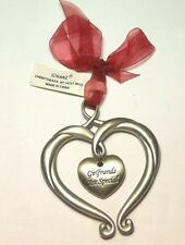 Ornament Heart Shaped with hanging heart Girlfriends Are Special