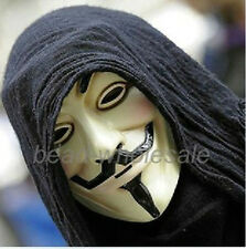Fashion V for VENDETTA Halloween MASK Prop Costume GUY Fawkes