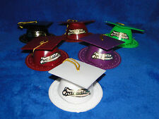 NEW VINTAGE WILTON GRADUATION CAP AND STAND CAKE TOPPER DIFFERENT COLORS