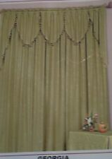 """Stylemaster's """"Georgia"""" Swag Pair or Festoon Valance in 5 Colors"""