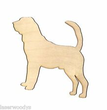 Bloodhound Dog Unfinished Flat Wood Shapes BH5599 Variety Sizes Laser Crafts