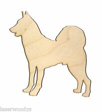 Canaan Dog Unfinished Flat Wood Shape Cut Outs C5605 Variety Szs Laser Crafts