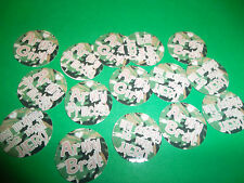 Pre Cut CAMO PRINCESS ARMY BRAT One Inch Bottle Cap Images! FREE SHIPPING
