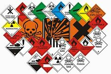 Hazard Warning Safety Signs - Multiple Choice for Chemicals - Vehicles   - Haz01