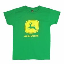 Womens NWT Green John Deere Screen Printed Logo Classic T Shirt Any Sz S M L XL