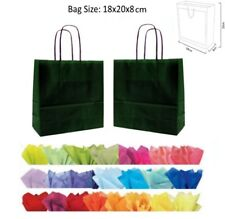 20 x 18 x 8 cm Green Paper Party Gift Bags - Wedding Favour Gift Bag & Tissue
