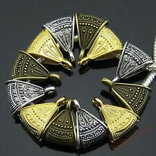 Bronze Golden Silvery Sector Charms Bail Connector Bead Fit Bracelet Colors Pick