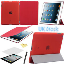 Ultra Thin Smart magnetic stand Cover +  Back Case for iPad 4 3 2 sleep wake