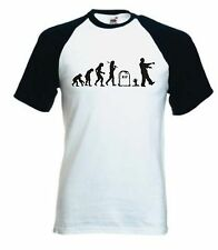 Zombie Evolution Baseball T-Shirt - Funny Zombies Undead Horror Cool T Shirt Tee