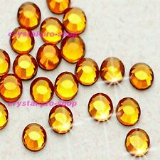 Topaz Gold Iron On Flatback Hotfix Rhinestones Crystal Glass Bling gem Diam​ante
