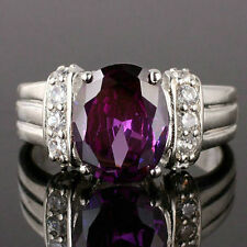 New Lady Authentic 925 Sterling Silver Ring 8x10 Oval Cut Grandmother Gift Size