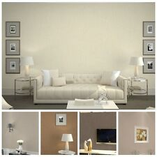 10M Simple Lines Embossed Solid Color Non-Woven Wallpaper Rolls,5 colors,Bedroom