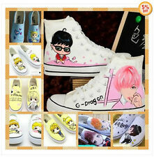KPOP bigbang GD YG fan eshop unisex Canvas shoes sneaker EXO Hand-painted shoe