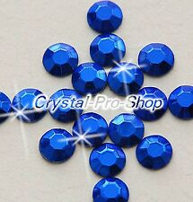 Blue Iron On Faceted Hot Fix Rhinestud Aluminium Craft studs DIY 2mm 3mm 4mm 5mm