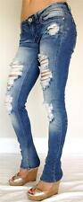 Cutout JEANS DESTROYED DISTRESSED WOMEN denim SKINNY SLIM FIT also in Plus Sizes