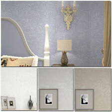 Modern!10M Style Solid color Flocking Non-Woven Wallpaper Rolls,8 colors