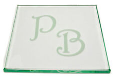 4 Personalised Glass Coasters Coaster Any Initials Engraved Fathers Day Gift
