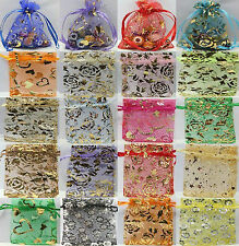50pcs Mixed Color Soft Organza Jewelry Gift Pouch Bags Wedding Favor Free Ship