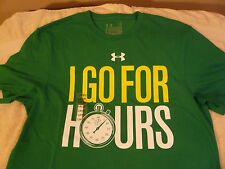 """Under Armour BRAND NEW """"I Go For Hours"""" t-shirt Large XL heatgear charged NWT UA"""