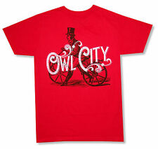 "OWL CITY DISTRESSED ""BICYCLE"" RED SOFT T-SHIRT NEW ADULT OFFICIAL BAND"