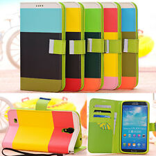Hybrid Leather Wallet Flip Pouch Case Cover For Samsung Galaxy Mega 6.3 i9200