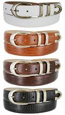 "Coronado - Genuine Leather Italian Calfskin Designer Dress Belt, 1-1/8"" Wide"