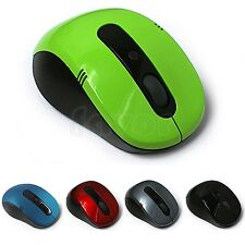New 2.4G Wireless Optical Mouse/Mice Black+ Mini USB Receiver for PC
