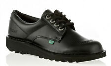 Kickers Kick Lo Mens Classic Black Lace Up Formal School Work Shoes Sizes UK6-12