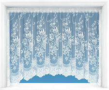 LYNDSEY JARDINIERE WHITE NET CURTAIN  Many Sizes Available  FREE POST