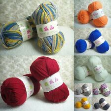 Wholesale! Soft Cashmere Milky Cotton baby Sock Yarn Lot Skein;DK;27 Colors!
