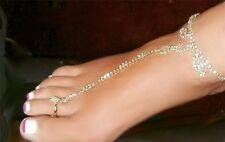Rhinestone crystals Adorn your foot with ONE  Barefoot Anklet Made in the USA