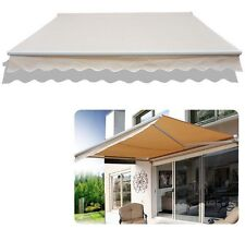 Outdoor 8.2'×6.6' Manual Retractable patio deck awning sun shade canopy shelter