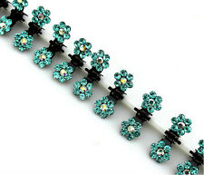 Lots 6pcs Girls Sweet Crystal Rhinestone Flower Mini Hair Claws Clips Clamps