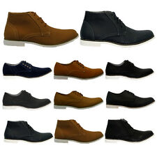 MENS SUEDE LACE UP CASUAL FORMAL DESERT CHELSEA BOOTS TRAINERS SHOES SIZE 6-11UK