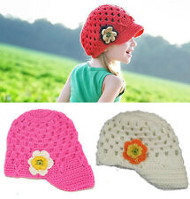 1pc Girls Kids Toddler Baby Handmade Crochet Hat Cap Beanie Casquette Photo Prop