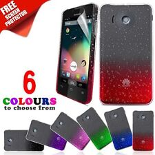 3D Crystal Case Rain Drop Petterned Cover For Huawei Ascend Y300 & Screen Film