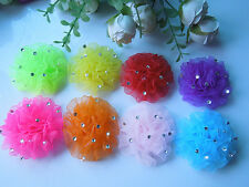 50pcs 65mm big Organza Flower applique / diamond craft / sewing F88