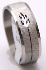 NEW Band Ring FLAME Design Great for Men or Women Cutout Style Stainless Steel